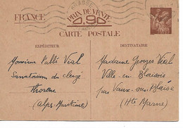 52 -  VILLE EN BLAISOIS Par VAUX SUR BLAISE - Carte Postale De Correspondance - Sonstige Gemeinden