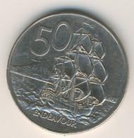 NEW ZEALAND 1985: 50 Cents, KM 37 - New Zealand