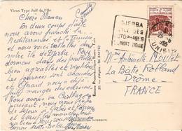 TUNISIE. DAGUIN  DJERBA 1955 Sur Belle Carte Postale  VIEUX TYPE JUIF DE L'ILE Pour La FRANCE - Non Classificati
