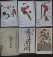 Tichovsky Jary 1920 Complete Set I Sportsman Football Hockey Volleyball With Original Envelope - Other Illustrators