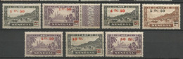 SENEGAL  N° 189 à 195 NEUF**  SANS CHARNIERE / 3 En Gom Coloniale / MNH - Unused Stamps