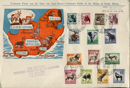South Africa Südafrika Mi# 239-52 - Fauna Definitives Used On Letter Or FDC - Kruger Park - Covers & Documents