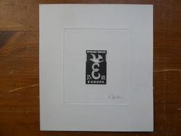 EPREUVE D'ARTISTE Signée GANDON 35 Francs Europa 1958  Neuf Sans Charnière MNH - Prueba De Artistas