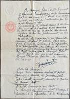 Gosselies, Lettre D'un Négociateur Des Armes, Année 1918. 2 Pages. - Historical Documents