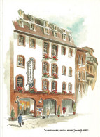 67 CPM   Strasbourg Hotel Des Rohan Willy Kuhn  Illustrateur Aquarelle Repro - Non Classificati