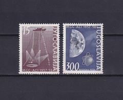 YUGOSLAVIA 1958, Mi# 868-869, Space, Ship, MNH - Ungebraucht