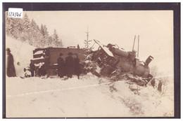 LE LOCLE - ACCIDENT DE CHEMIN DE FER SUR LA LIGNE MORTEAU-LE LOCLE LE 20 FEVRIER 1907 - TRAIN - BAHN - ( FORT PLI ) - NE Neuchâtel