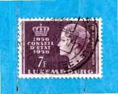 Lussemburgo ° - 1956 -  EUROPA.  Yv. 519.   Usato. - Usados