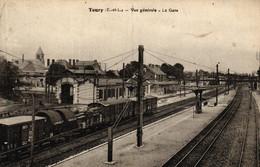 EURE ET LOIR - 28 - TOURY - Vue Générale - La Gare - Other Municipalities