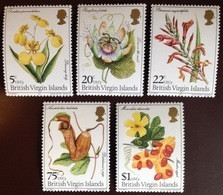 British Virgin Islands 1981 Flowers MNH - Non Classificati