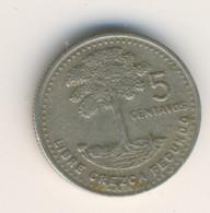 GUATEMALA 1987: 5 Centavos, KM 276 - Guatemala