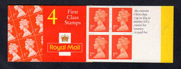 GRANDE-BRETAGNE 1996 - Carnet Yvert C1673-12 - SG HB10 - NEUF** MNH - Barcode Booklet With 4 NVI 1st Class Stamps - Markenheftchen