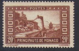 Monaco Timbre Paysage De La Principauté 20 C. Brun Jaune N° 120** Neuf - Unused Stamps