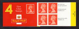 GRANDE-BRETAGNE 1993 - Carnet Yvert C1673-1 - SG HB6 - NEUF** MNH - Barcode Booklet With 4 NVI 1st Class Stamps - Markenheftchen