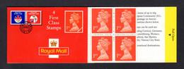 GRANDE-BRETAGNE 1992 - Carnet Yvert C1474a-3 - SG HB4 - NEUF** MNH - Barcode Booklet With 4 NVI 1st Class Stamps - Markenheftchen