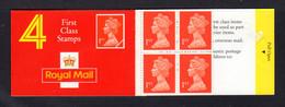 GRANDE-BRETAGNE 1990 - Carnet Yvert C1474a-1 - SG HB3 - NEUF** MNH - Barcode Booklet With 4 NVI 1st Class Stamps - Markenheftchen