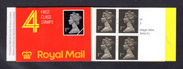 GRANDE-BRETAGNE 1989 - Carnet Yvert C1395-1 - SG HB2 - NEUF** MNH - Barcode Booklet With 4 NVI 1st Class Stamps - Markenheftchen