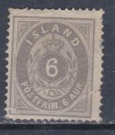 Islande N° 7 (.) 6 A. Gris Type A Neuf Sans Gomme, TB - Ungebraucht