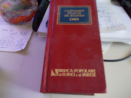 CALENDARIO  ATLANTE  DE  AGOSTINI 1989 BANCA POP. LUINO  VARESE - Toursim & Travels