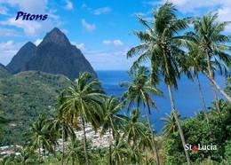 Saint Lucia Island Pitons UNESCO New Postcard - Saint Lucia