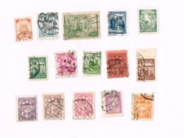 Collection De 15 Timbres Oblitérés. - Lettland