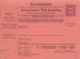 WÜRTTEMBERG   ENTIER POSTAL/GANZSACH/POSTAL STATIONARY   MANDAT INTERNATIONAL - Enteros Postales
