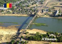 Chad N'Djamena Aerial View Bridge Postcard Tschad AK - Chad