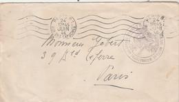 Cachet TRIBUNAL MILITAIRE INTERNATIONAL DES GRANDS CRIMINELS DE GUERRE Lettre  Paris 24/6/1946 - WW II