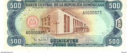 Dominican Republic P.157c 500 Pesos 1998 Unc - Dominicana