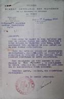H 1 Facture/document Entete Bureau Artisanal Des Matieres   Lille - Guerra De 1939-45