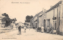 52-BUGNIERES-PLACE DU COMMERCE-CAFE-N°2044-D/0305 - Andere Gemeenten