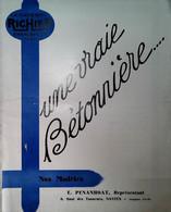 H 1 Facture/document Catalogue Bétonnières Richier  10 Pages - Sin Clasificación