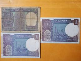 INDE 1 RUPEE 1975-1990-1991 LOT DE 3 BILLETS - India