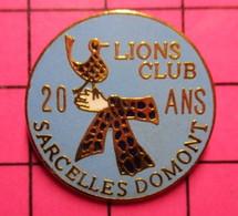 1218B Pin's Pins / Beau Et Rare / THEME : ASSOCIATIONS / LION'S CLUB SARCELLES DOMONT 20 ANS - Associations