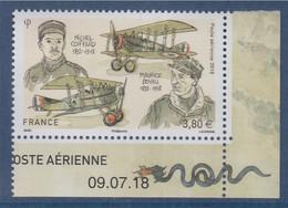 Michel Coiffard Et Maurice Boyau Bas De Feuillet Daté 1 Timbre 09.07.18 Poste Aérienne N°PA82 à 3.80€ - 1960-.... Ungebraucht