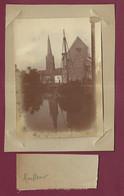 170421A - PHOTO ANCIENNE XIXème - 76 HARFLEUR Clocher Port Voilier - Harfleur