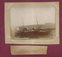 170421A - PHOTO ANCIENNE XIXème - 76 HARFLEUR Port Yacht De Plaisance - Harfleur