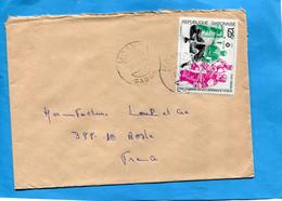 Marcophilie-GABON-lettre >Françe-cad- 1984-MOANDA--stampsN°A260 Sports-jo Sarajevo-hockey Sur Glace - Gabon