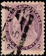 CANADA - Scott #76a Queen Victoria (1) / Used Stamp CV $12 - Usados