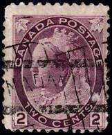 CANADA - Scott #76a Queen Victoria (2) / Used Stamp CV $12 - Usados