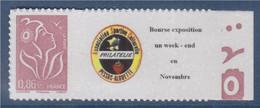 Timbre Marianne De Lamouche Type Autocollant  0.86€ Lilas-brun Clair  De Feuillet YT 3969A Et Spink 65 - Personnalisés