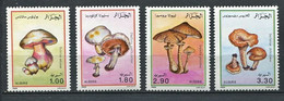 300 ALGERIE 1989 - Yvert 966/69 - Champignon - Neuf ** (MNH) Sans Charniere - Algeria (1962-...)