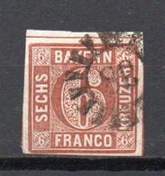 - ALLEMAGNE / BAVIERE N° 5 Oblitéré - 6 K. Brun-rouge Type II - Cote 10,00 € - - Bavaria