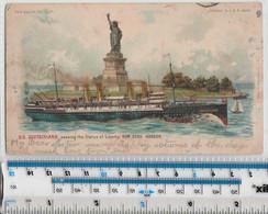 SS DEUTSCHLAND- PASSING THE STATUE OF LIBERTY - 1903 - Contre La Lumière