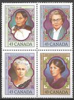 Canada 1993. Scott #1459a (U) Canadian Women ** Complete Issue - Nuevos