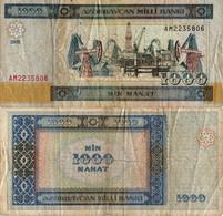 Azerbaijan / 1000 Manat / 2001 / P-23(a) / VF - Azerbaïjan