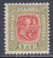 Islande N° 47 X Frédéric VIII Et Christian IX 1 E. Vert-jaune Et Rouge Trace De Charnière, Sinon TB - Ungebraucht