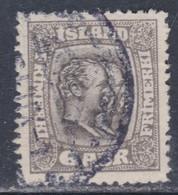 Islande N° 51 O Frédéric VIII Et Christian IX 6 A. Gris Oblitéré, TB - Gebraucht