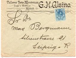Carta / Cover Publicitoria G.H. Alsina Madrid A   Leipzig ( Alemania ) - Covers & Documents