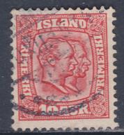 Islande N° 52 O Frédéric VIII Et Christian IX 10 A. Rouge Carminé Oblitéré, TB - Gebraucht